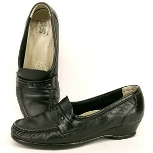 SAS Easier Leather Wedge Loafers Shoes 6.5 EL67